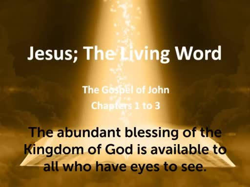 The abundant blessing of the Kingdom of God is available to all who have eyes to see