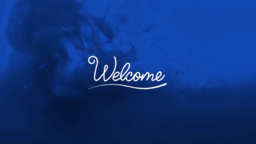 Blue Ink welcome 16x9 PowerPoint Photoshop image