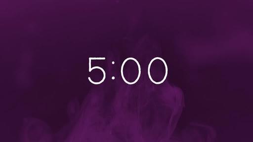 Purple Ink - Countdown 5 min