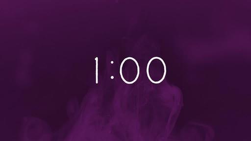 Purple Ink - Countdown 1 min
