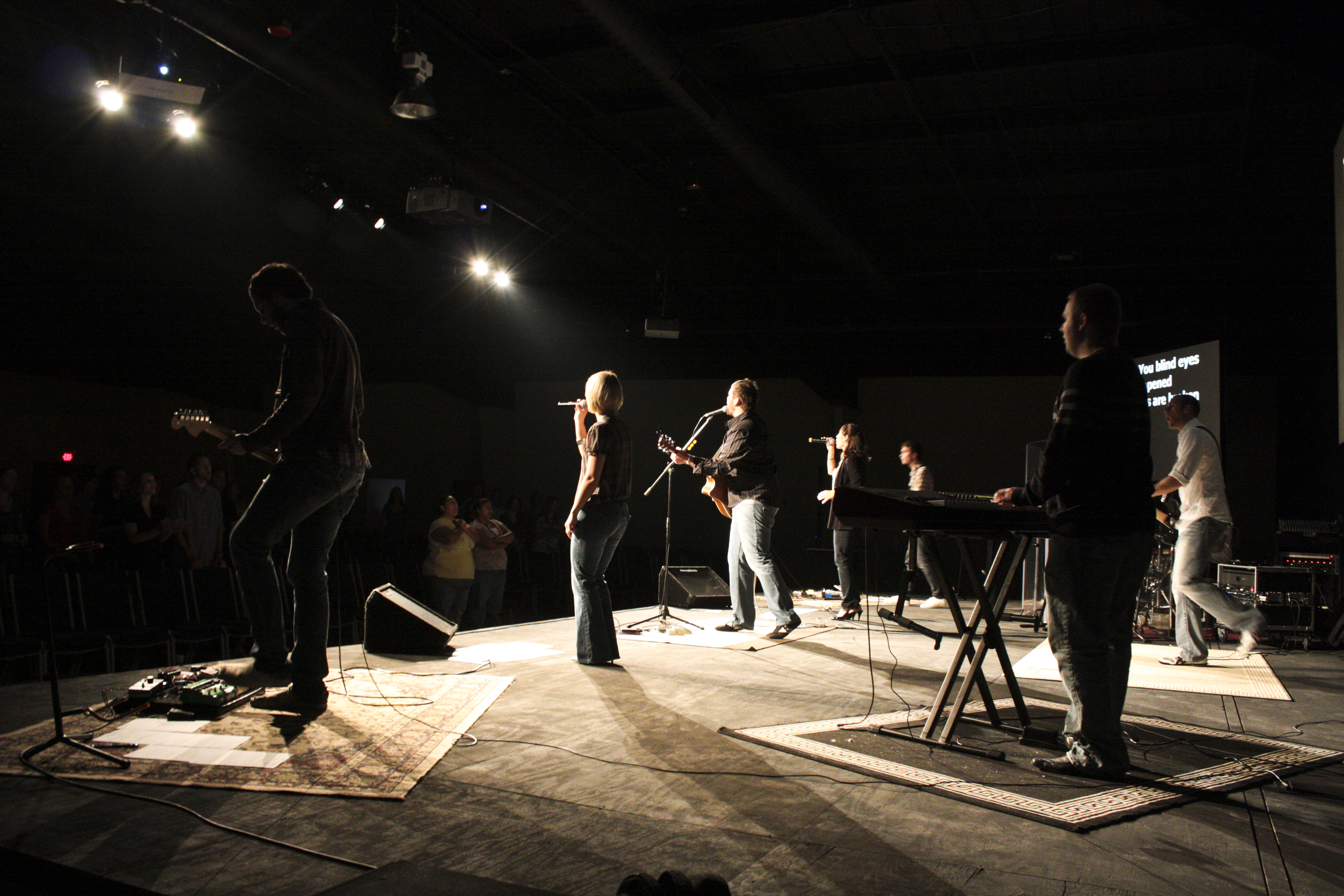 Worship team from back stage