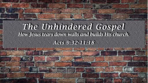 The Unhindered Gospel: How Jesus tears down walls and builds His church.