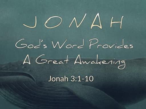 God's Word Provides A Great Awakening