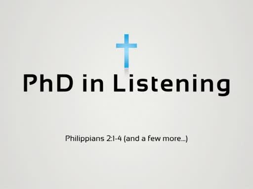 PhD In Listening