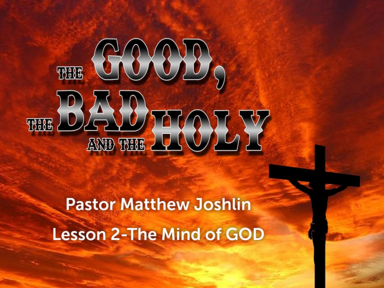 Lesson 2 The Mind of GOD