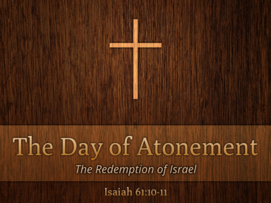 09 17 2017 The Day of Atonement