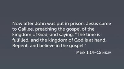 """""""Gospel"""" in Mark 1:14–15"""