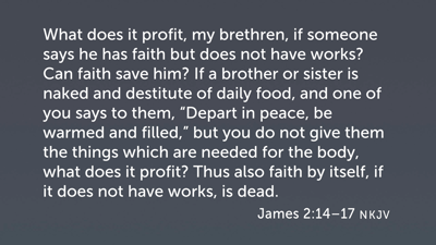 Faith and Works in James 2:14–17