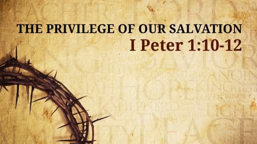 The Privilege of our Salvation