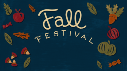 Fall Festival announcement 16x9 PowerPoint image