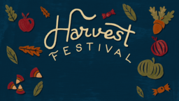 Fall Festival harvest announcement 16x9 PowerPoint image