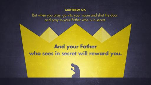 Matthew 6:6 verse of the day image
