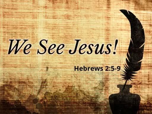 We See Jesus!