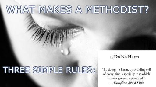 Three Simple Rules - #1 - Do No Harm - 12 Nov Worship at South Meriden Trinity UMC