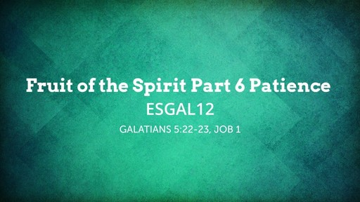 ESGAL12 Fruit of the Spirit Part 6 Patience