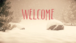Nostalgic Christmas welcome 16x9 PowerPoint image