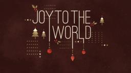 Joy to the World subheader 16x9 PowerPoint Photoshop image