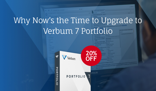 Verbum 7 Portfolio is 20% off!