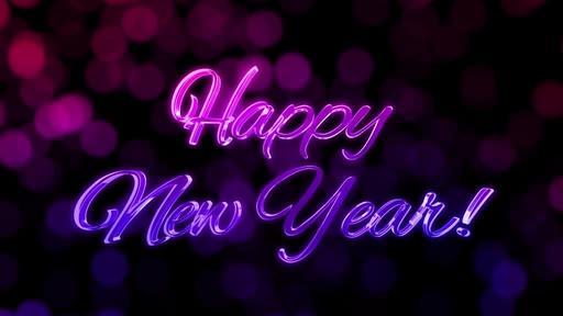 Festive Bokeh - Happy New Year - Happy New Year