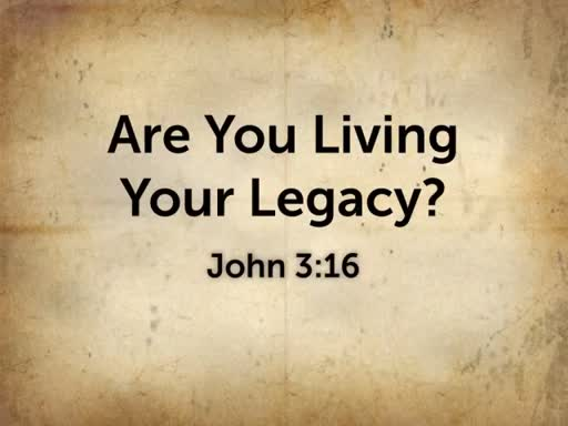 November 26th - Guest  Speaker: Are you living your legacy?
