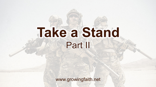 Take a Stand- Part II