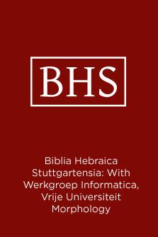 Biblia Hebraica Stuttgartensia: With Werkgroep Informatica