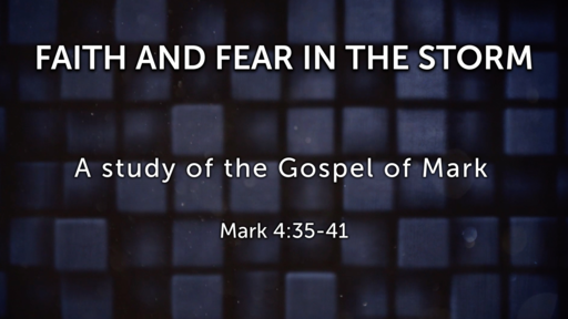 Faith and Fear in the Storm