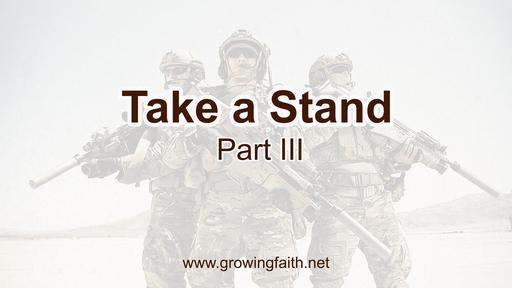 Take a Stand III