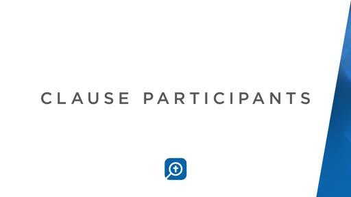 Clause Participants: Greek