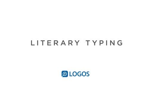 Literary Typing