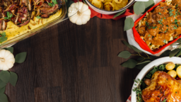 Festive Potluck Dinner content a PowerPoint Photoshop image