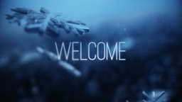 Blue Winter Snow welcome 16x9 PowerPoint Photoshop image