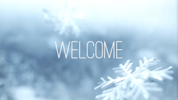 Winter Snow welcome 16x9 PowerPoint Photoshop image