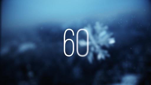 Blue Winter Snow - Countdown 1 min