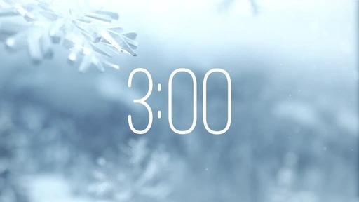 Winter Snow - Countdown 3 min