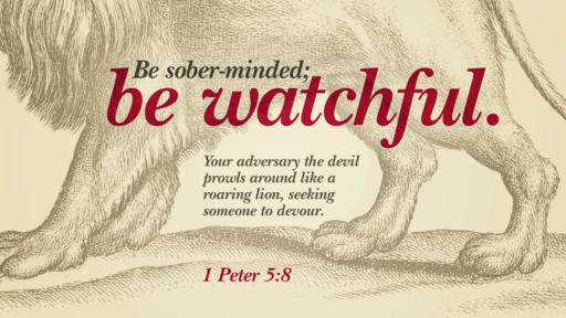 1 Peter 5:8 verse of the day image