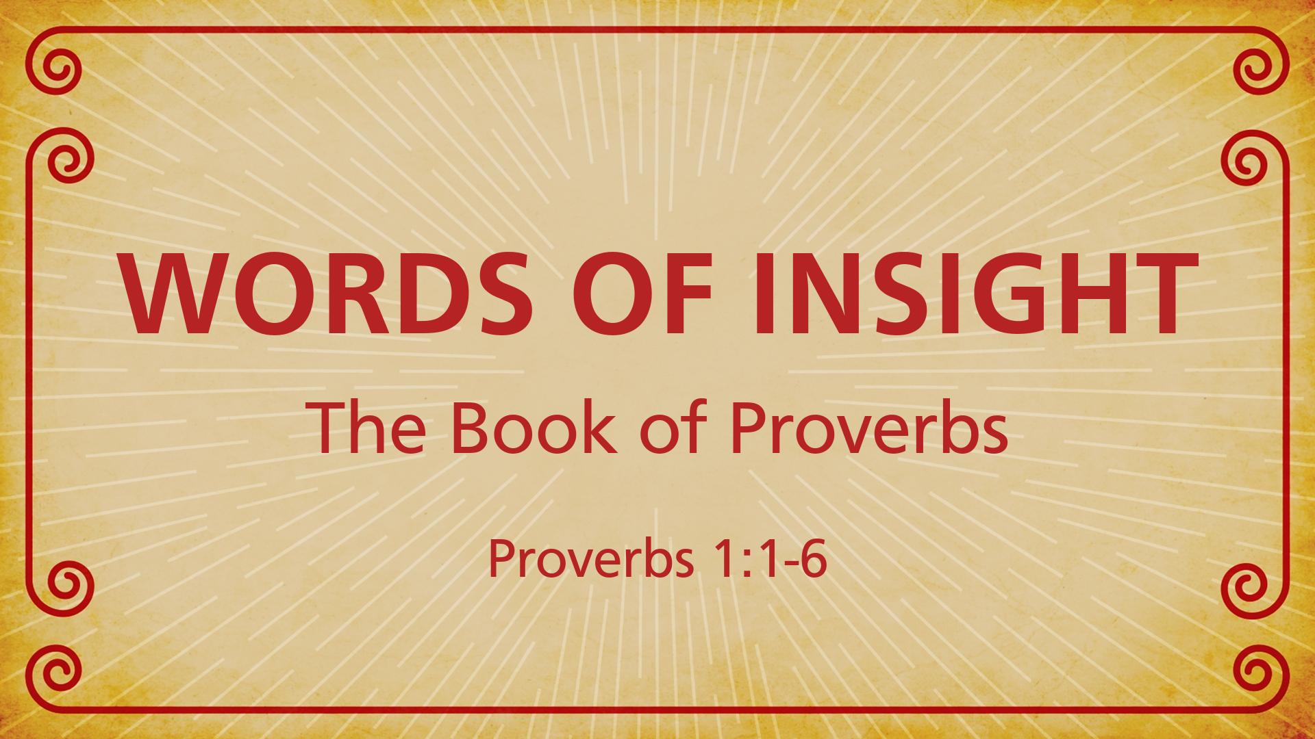 Words of Insight - Faithlife Sermons