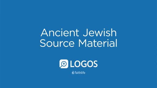 Ancient Jewish Source Material