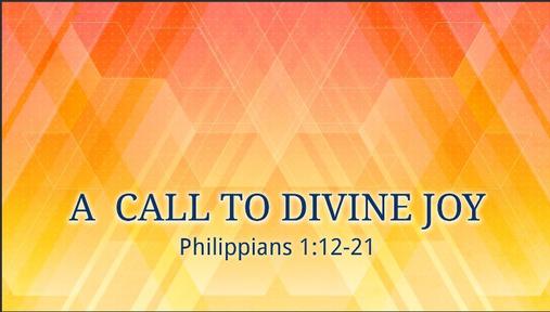 A Call to Divine Joy
