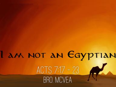 I am not an Egyptian