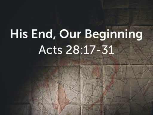 His End, Our Beginning