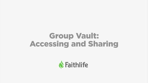 Group Vault: Accessing and Sharing