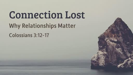 Connection Lost - Why Relationships Matter