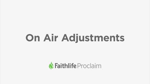 On Air Adjustments