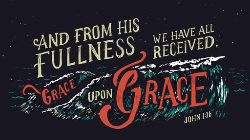 John 1:16 verse of the day image