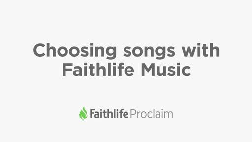 Choosing songs with Faithlife Music
