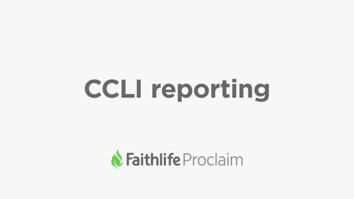 CCLI Reporting