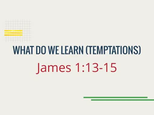 What Do We Learn (Temptations)
