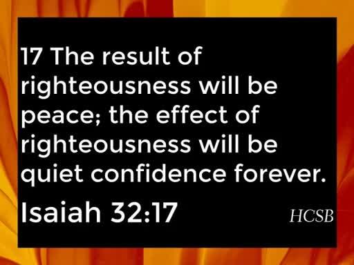 Calm Assurance from the Spirit