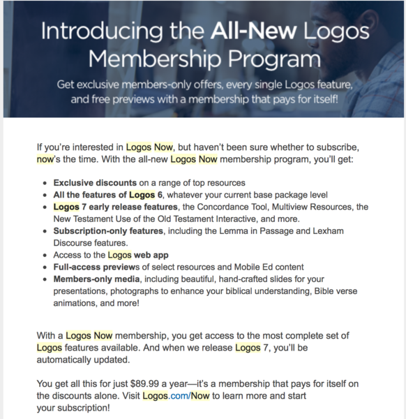 Faithlife connect faithlife logos now membership you get access to the most complete set of logos features available and when we release logos 7 youll be automatically updated fandeluxe Choice Image